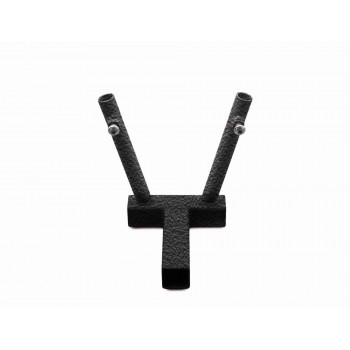 Hitch Mounted Dual Flag Holder Kit, Texturized Black. Made in the USA.