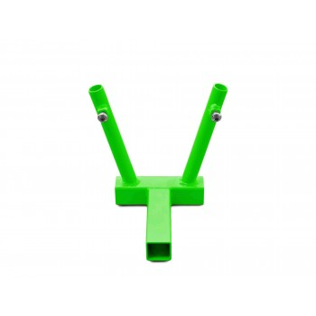 Hitch Mounted Dual Flag Holder Kit, Neon Green. Made in the USA.