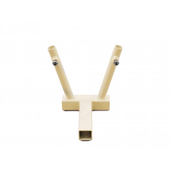 Hitch Mounted Dual Flag Holder Kit, Military Beige. Made in the USA.