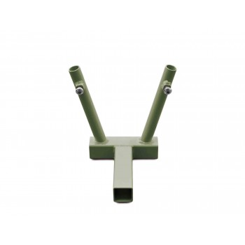 Hitch Mounted Dual Flag Holder Kit, Locas Green. Made in the USA.
