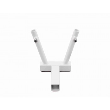 Hitch Mounted Dual Flag Holder Kit, Cloud White. Made in the USA.