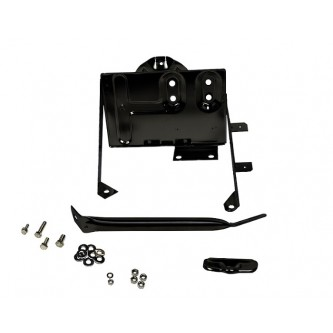 Kentrol Black Stainless Steel Battery Tray With Support For Jeep CJ7 1976-1986