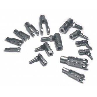 Cable Linkage Ends, Cable Assemblers Subcomponents, Common Linkage Ends, Ball Joints and Clevis Ends, 10-32, 1/4-28, 5/16-24, 3/8-24