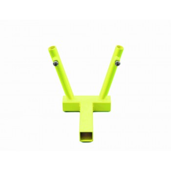 Hitch Mounted Dual Flag Holder Kit, Gecko Green. Made in the USA.