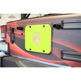 Gecko Green Spare Tire Delete Plate for Jeep Wrangler JK 2007-2018 Steinjager J0046537