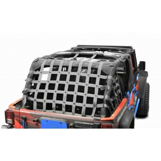 Cargo Net, Jeep JKU, 4 Door Kit, 2 inch webbing, Gray