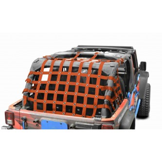Cargo Net, Jeep JKU, 4 Door Kit, 2 inch webbing, Orange