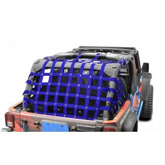 Cargo Net, Jeep JKU, 4 Door Kit, 2 inch webbing, Blue