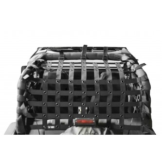 Teddy® Top Cargo Net Kit, Jeep YJ, 2 inch webbing, Black. Family Style Cage Only.  Made in the USA.