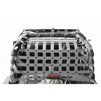 Teddy® Top Cargo Net Kit, Jeep YJ, 2 inch webbing, Gray