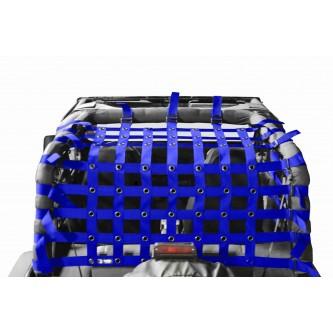Teddy® Top Cargo Net Kit, Jeep YJ, 2 inch webbing, Blue