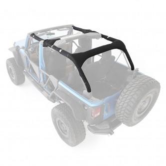 Smittybilt Jeep Wrangler JK MOLLE Sports Bar Cover Kit 07-17 4Door Black 5666201