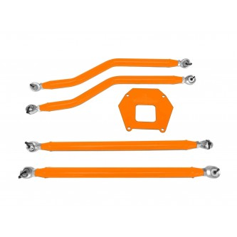 Polaris RZR XP 1000, 2013-2016, Rear Radius Arm High Clearance Kit, Steinjager. Made in the USA. Powder Coated Fluorescent Orange