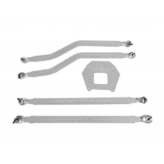 Polaris RZR XP 1000, 2013-2016, Rear Radius Arm High Clearance Kit, Steinjager. Made in the USA. Powder Coated Gray Hammertone