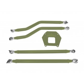 Polaris RZR XP 1000, 2013-2016, Rear Radius Arm High Clearance Kit, Steinjager. Made in the USA. Powder Coated Locas Green