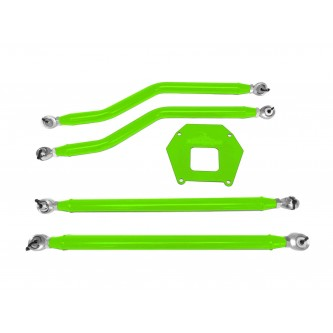 Polaris RZR XP 1000, 2013-2016, Rear Radius Arm High Clearance Kit, Steinjager. Made in the USA. Powder Coated Neon Green