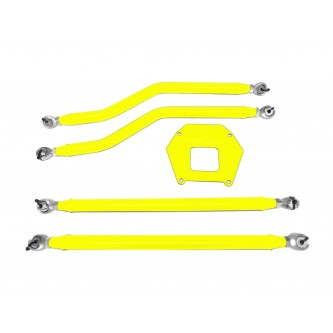 Polaris RZR XP 1000, 2013-2016, Rear Radius Arm High Clearance Kit, Steinjager. Made in the USA. Powder Coated Neon Yellow