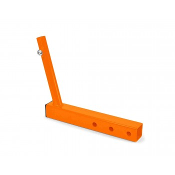 Hitch Mounted Single Flag Holder Kit, Powder Coated Fluorescent Orange. Made in the USA.