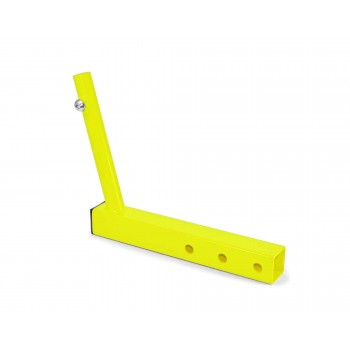 Hitch Mounted Single Flag Holder Kit, Powder Coated Neon Yellow. Made in the USA.