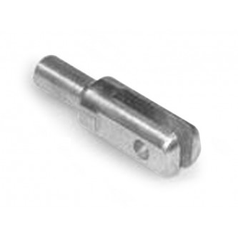 PWF-6-634-188, Clevis and Yoke Ends, Male, 0.6340 Stem Diameter, 0.3750 Pin Holes Chrome Moly Weld-In Style