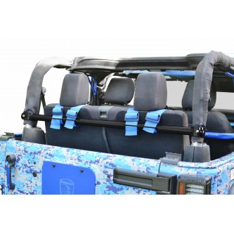 Jeep Wrangler JK, 2007-2018, Rear Harness Bar Kit.  Bare.  2 Door Only.  Made in the USA.