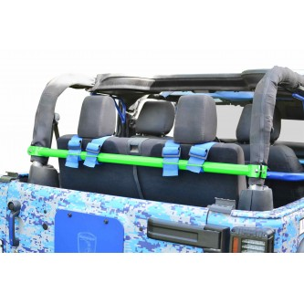 Jeep Wrangler JK, 2007-2018, Rear Harness Bar Kit.  Neon Green.  2 Door Only.  Made in the USA.