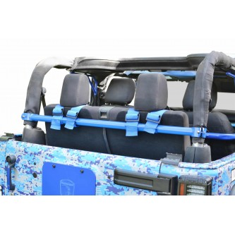 Jeep Wrangler JK, 2007-2018, Rear Harness Bar Kit.  Playboy Blue.  2 Door Only.  Made in the USA.