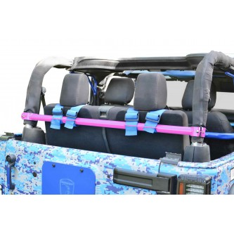 Jeep Wrangler JK, 2007-2018, Rear Harness Bar Kit.  Pinky.  2 Door Only.  Made in the USA.