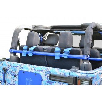 Jeep Wrangler JK, 2007-2018, Rear Harness Bar Kit.  Southwest Blue.  2 Door Only.  Made in the USA.
