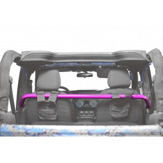 Jeep Wrangler JK, 2007-2018, Front Harness Bar Kit.  Hot Pink.  2 Door Only.  Made in the USA.