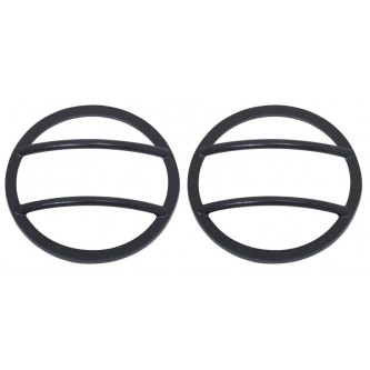 Front Marker Covers Pair Black Stainless Jeep Wrangler JK 2007-2016 80009