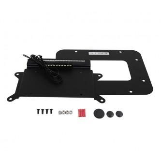 Kentrol BackSide License Plate Relocation Mount LED for Jeep Wrangler JK 2010-18