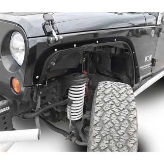 Fits Jeep JK 2007-2018, Front Fender Deletes.  Black.  Kit includes two front fender deletes.  Made in the USA.