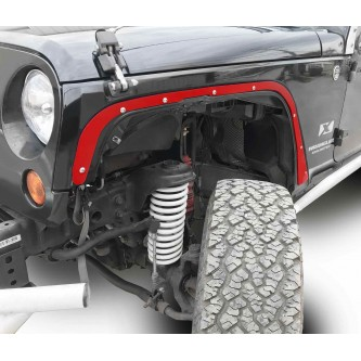 Fits Jeep JK 2007-2018, Front Fender Deletes.  Red Baron.  Kit includes two front fender deletes.  Made in the USA.