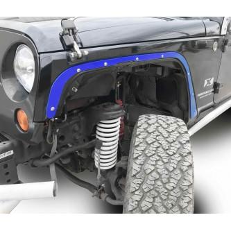 Fits Jeep JK 2007-2018, Front Fender Deletes.  Southwest Blue.  Kit includes two front fender deletes.  Made in the USA.