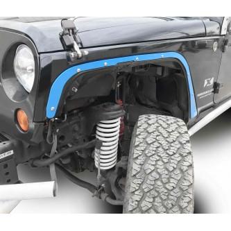 Fits Jeep JK 2007-2018, Front Fender Deletes.  Playboy Blue.  Kit includes two front fender deletes.  Made in the USA.