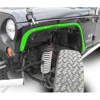 Fits Jeep JK 2007-2018, Front Fender Deletes.  Neon Green.  Kit includes two front fender deletes.  Made in the USA.