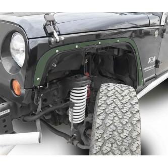 Fits Jeep JK 2007-2018, Front Fender Deletes.  Locas Green.  Kit includes two front fender deletes.  Made in the USA.