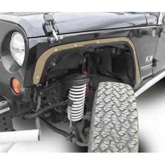 Fits Jeep JK 2007-2018, Front Fender Deletes.  Military Beige.  Kit includes two front fender deletes.  Made in the USA.