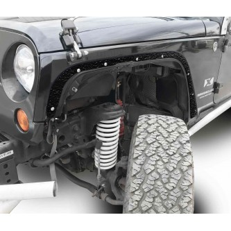 Fits Jeep JK 2007-2018, Front Fender Deletes.  Texturized Black.  Kit includes two front fender deletes.  Made in the USA.