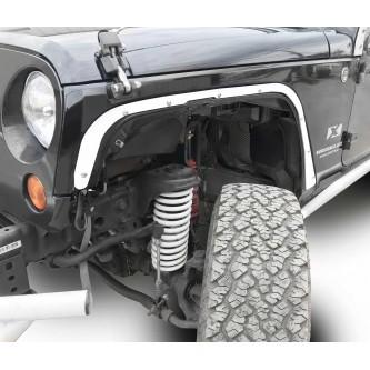 Fits Jeep JK 2007-2018, Front Fender Deletes.  Cloud White.  Kit includes two front fender deletes.  Made in the USA.