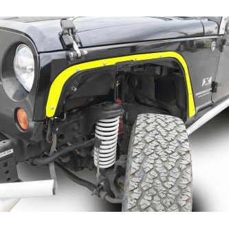 Fits Jeep JK 2007-2018, Front Fender Deletes.  Neon Yellow.  Kit includes two front fender deletes.  Made in the USA.