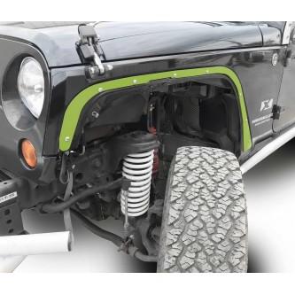 Fits Jeep JK 2007-2018, Front Fender Deletes.  Gecko Green.  Kit includes two front fender deletes.  Made in the USA.