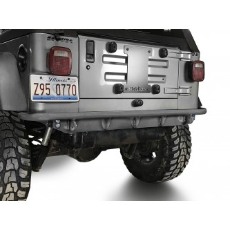 Fits Jeep Wrangler TJ 1997-2006.  Rear Bumper.  Bare.  Made in the USA.