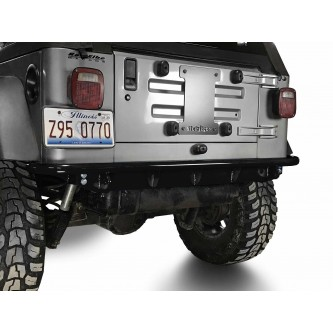 Fits Jeep Wrangler TJ 1997-2006.  Rear Bumper.  Black.  Made in the USA.