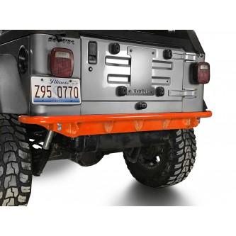 Fits Jeep Wrangler TJ 1997-2006.  Rear Bumper.  Fluorescent Orange.  Made in the USA.