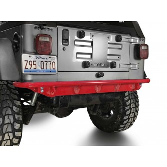 Fits Jeep Wrangler TJ 1997-2006.  Rear Bumper.  Red Baron.  Made in the USA.