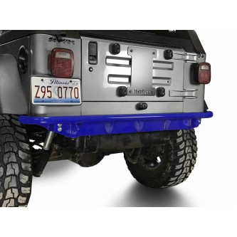 Fits Jeep Wrangler TJ 1997-2006.  Rear Bumper.  Southwest Blue.  Made in the USA.