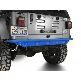 Fits Jeep Wrangler TJ 1997-2006.  Rear Bumper.  Playboy Blue.  Made in the USA.
