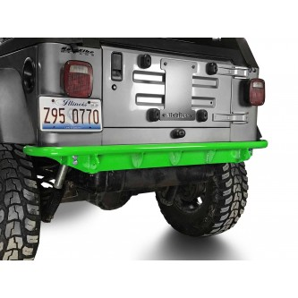 Fits Jeep Wrangler TJ 1997-2006.  Rear Bumper.  Neon Green.  Made in the USA.